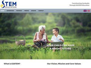 E2STEM Education Web Design Cambodia