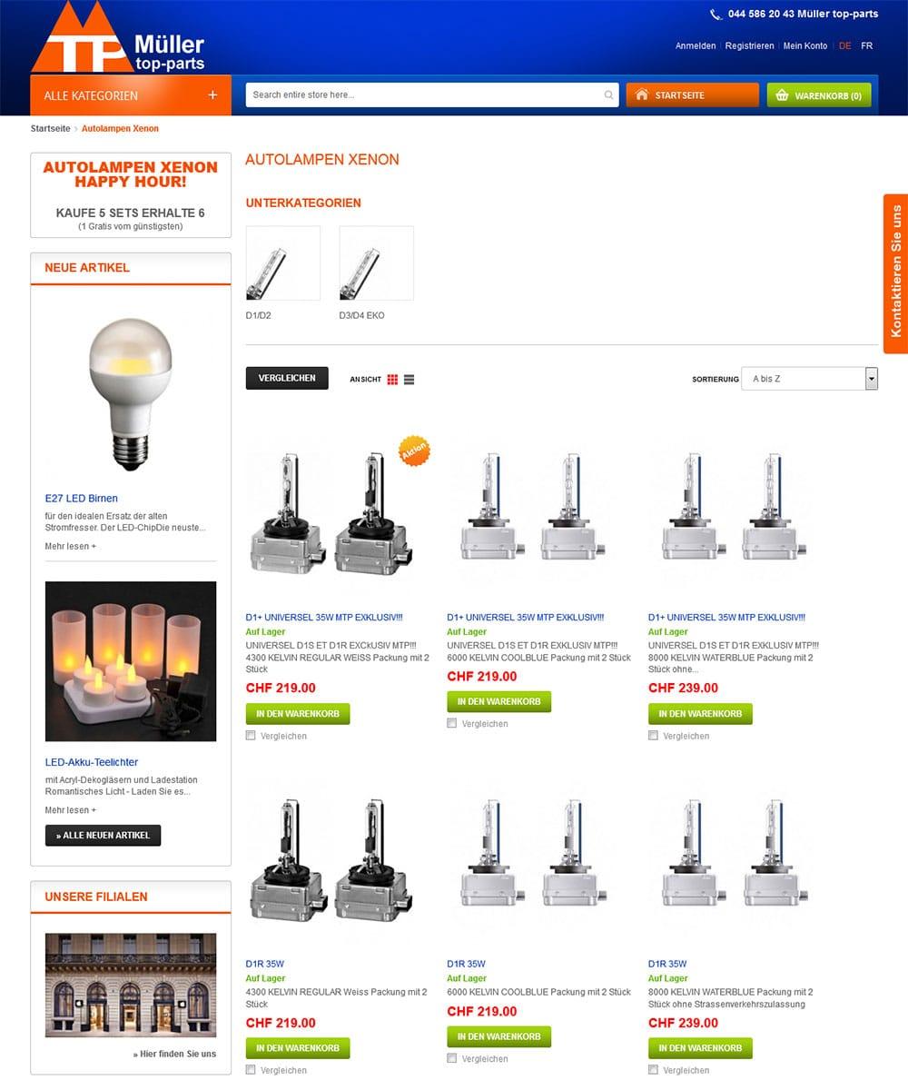 Auto-onderdelen Webwinkel | Zwitserland