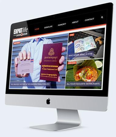 Re-design Door-2-Door website ExpatLife Cambodia
